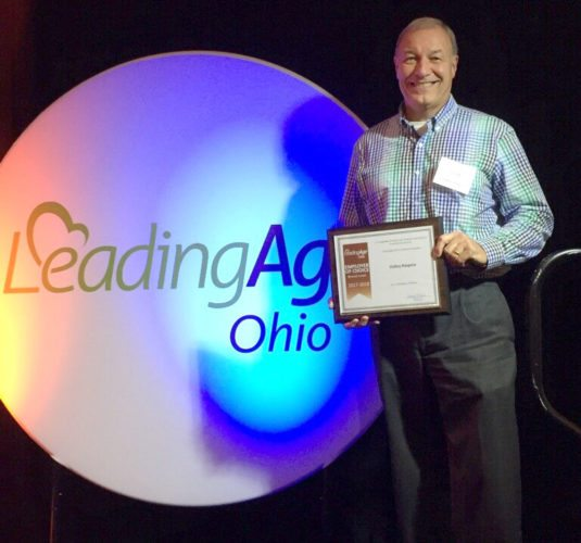 Valley Hospice recently has been named a bronze employer of choice by LeadingAge Ohio for 2017-18. Tom Laflam, Valley Hospice vice president of finance, accepted the award. — Contributed