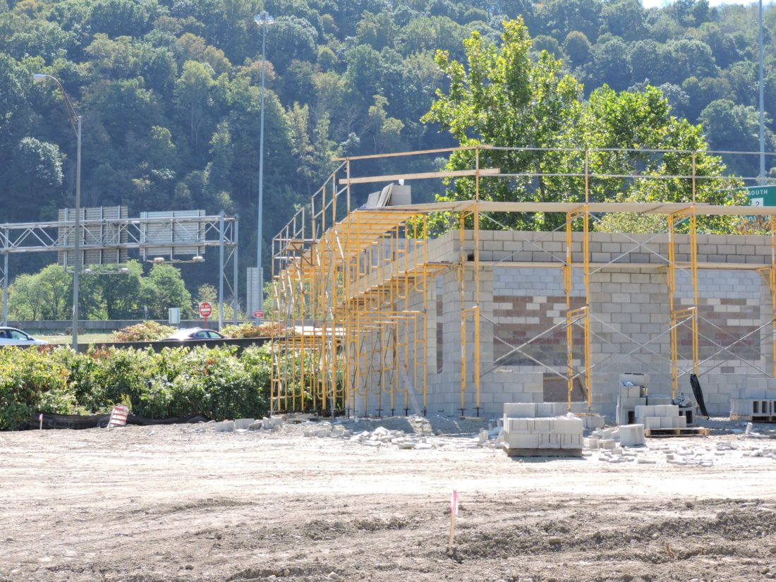 CONSTRUCTION — A new BFS Foods location under construction on Freedom Way in Weirton is scheduled to open in late December. Company officials were at Tuesday's zoning board meeting to request variances for the building's signage.