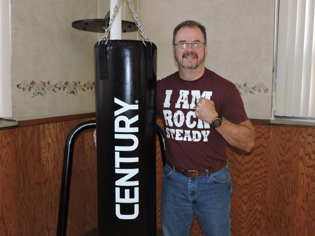 READYTOSTART — The Rev. Holley Faulkner Jr. is bringing Rock Steady Boxing to the area, with classes set to begin Oct. 16 at the Millsop Community Center in Weirton. Developed in 2006, Rock Steady Boxing is an exercise program aimed specifically at people with Parkinson's disease. -- Craig Howell