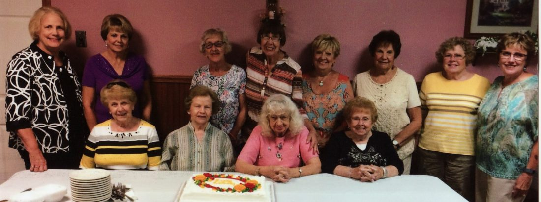 MAKINGPLANS — Members of the Chester Arts Club include seated, from left, Sue Boston, Velma Jackson, Jean Hanlon and Wanda Hood, and standing, Kitty Binkowski, Joann Lange, Vivian Richmond, Donna Stevens, Willie Balt, Mary Ann Wright, Polly Mackall and Bev Stevens. -- Contributed