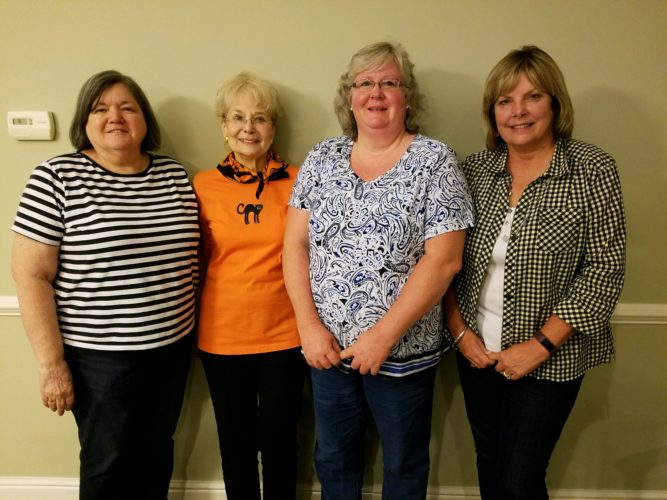 CLUB LEADERS — New officers of the Woodland Garden Club are, from left, Verna Smolinsky, president; Joyce Griffin, treasurer; Amanda Roach, vice president; and Carole Patton, secretary. - Contributed
