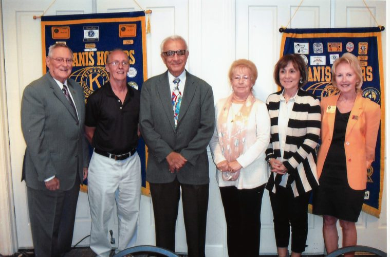 NEW OFFICERS — Weirton Kiwanis Club officers are, from left, Duke Horstemeyer, John Hudson, Gary Mastromichalis, Catherine Kochman, Miki Marino and Lt. Gov. Mary Kay Olashuk. -- Contributed
