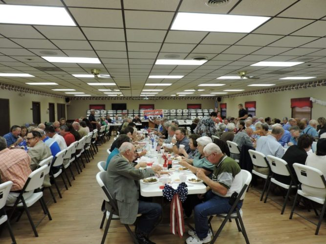 ANNUAL DINNER — Members of the Harrison County Republican Party gathered for their annual ox roast dinner and fundraiser on Thursday. The dinner included a drawing and silent auction, as well as remarks from keynote speaker Judge Carol Ann Robb of the the 7th District Court of Appeals.