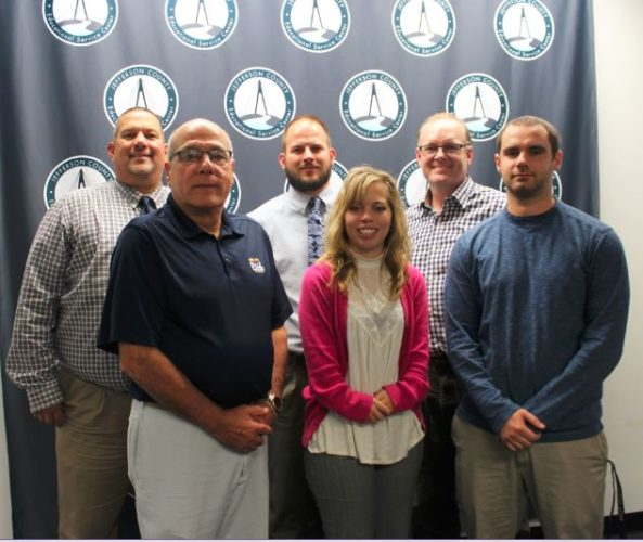 READY FOR PROGRAM — Among those working on the Quest for Success program are, from left, front, Raymond Saccoccia, Martariesa Fiala and Jason Schwartzmiller; and back. Mark Masloski, Mike Emery and Craig McGuire. Amy Mihalyo, Fatima Smuck and Lee Gillison also are a part of the program.- Contributed
