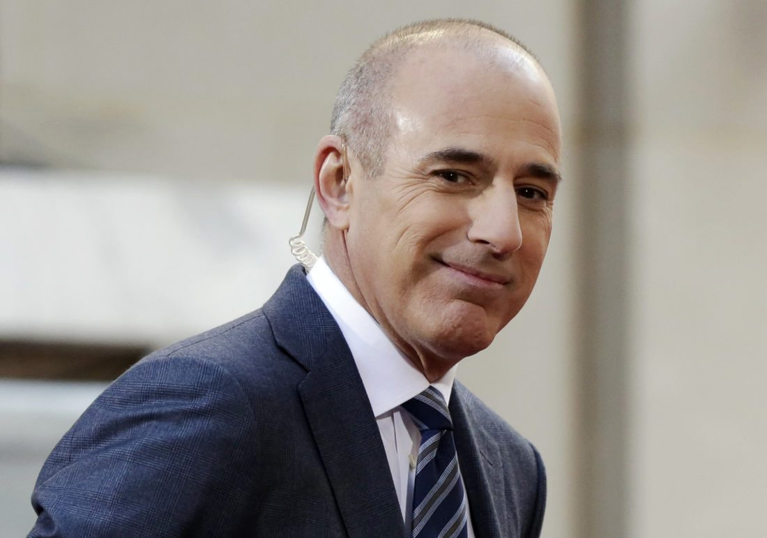 "GONE — Matt Lauer, longtime host of NBC's ""Today,"" has been fired by the network for ""inappropriate behavior.""  -- Associated Press"