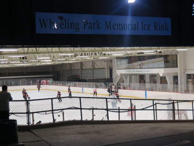 ENJOYING THE RINK — Local hockey youth get some ice time at Wheeling Park's skating rink. - Joselyn King