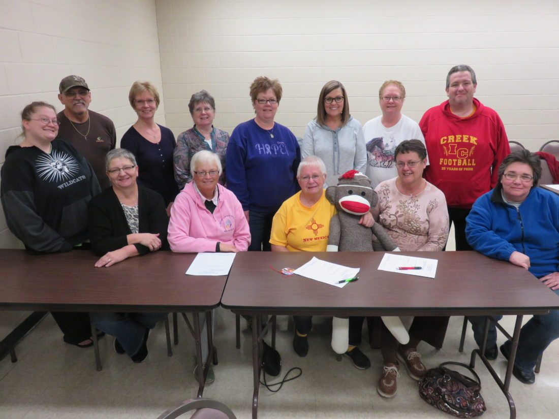 LOOKINGFORSUPPORT — The Relay for Life of Jefferson County will be promoting interest in the relay to be held from 3 p.m. to 11 p.m. June 16 when relay supporters have a presence in Saturday's Christmas parade in Steubenville, which begins at noon. Planning for it at the November relay meeting were seated, from left, Judy Fellows, Karen Lundquist, Connie Crawford, June Crago and Bernice Richards; and standing, Emily Russell, Nate Fellows, Michele Purviance, Dianna Landberg, Lisa Elder, Brenda Mieczkowski, Roxanne Gillis and Tom Simmons. -- Janice Kiaski