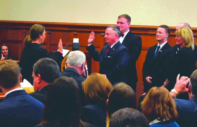TAKING OATH — United States Attorney for the Northern District of West Virginia  Bill Powell took his formal oath of office Friday at the W. Craig Broadwater Federal Building and United States Courthouse in Martinsburg.