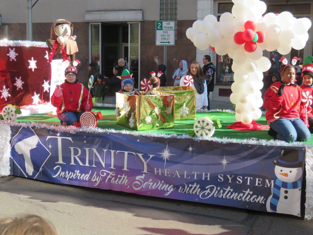 Trinity Health System served as parade grand marshal. -- Janice Kiaski