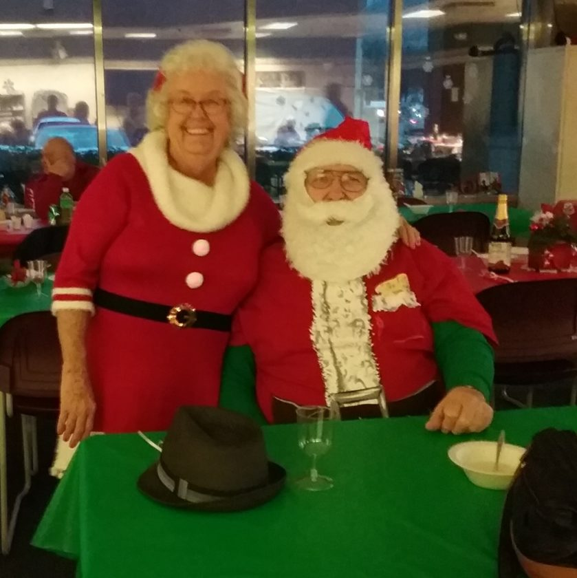 A WELCOMED COUPLE — Special guests at the Greater Weirton Senior Center's annual Christmas dinner-dance on Dec. 15 were Santa and Mrs. Claus. -- Contributed