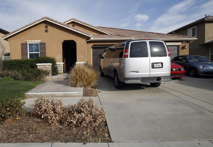CHILDREN HELD CAPTIVE  — This photo shows the exterior of the home where police arrested a couple accused of holding their 13 children captive, in Perris, Calif., Tuesday. Authorities said an emaciated teenager led deputies to the California home where her 12 brothers and sisters were locked up in filthy conditions, with some of them malnourished and chained to beds. -- Associated Press