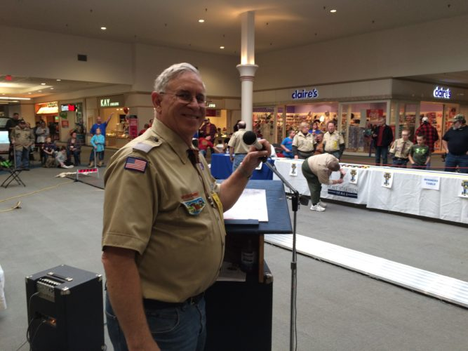 Joe Kovaleski is the longtime chairman of the Pinewood Derby, Two Chiefs District, boys Scouts of America. -- Contributed