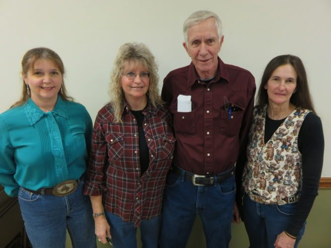 CLUBOFFICERS — Officers of the Steubenville Saddle Club for 2018 are, from left, Cathy Hinkle, treasurer; Marty Ternasky, show secretary; Dale Holcomb, president; and Robin Wedlake, vice president and point secretary. Courtney Cooley is recording secretary.  -- Janice Kiaski