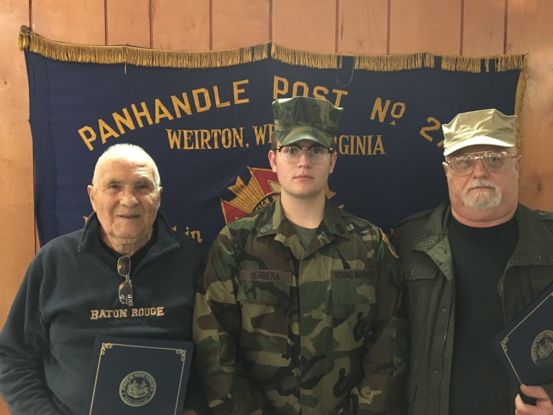 honored two volunteers with the tri state young marines recently were recognized for their service by west virginia gov jim justice