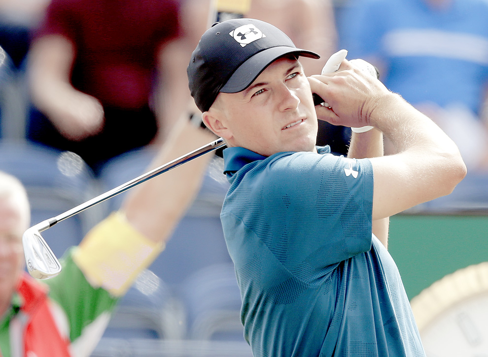 Jordan Spieth takes share of lead into final day the Open