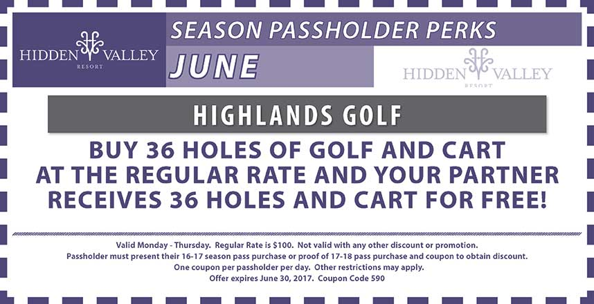 BOGO 36 Holes & Cart Mon-Thurs.  Tee Time Required