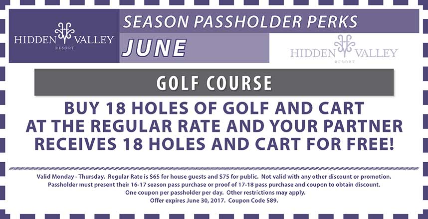 BOGO 18 Holes & Cart Mon-Thurs.  Tee Time Required