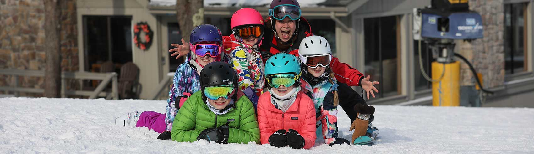 Kids on the slopes at Hidden Valley