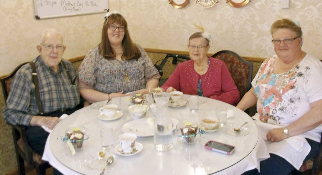 Victorian Heights Assisted Living Of Crystal Falls Celebrated Mothers Day With A Treasured Tea Party In