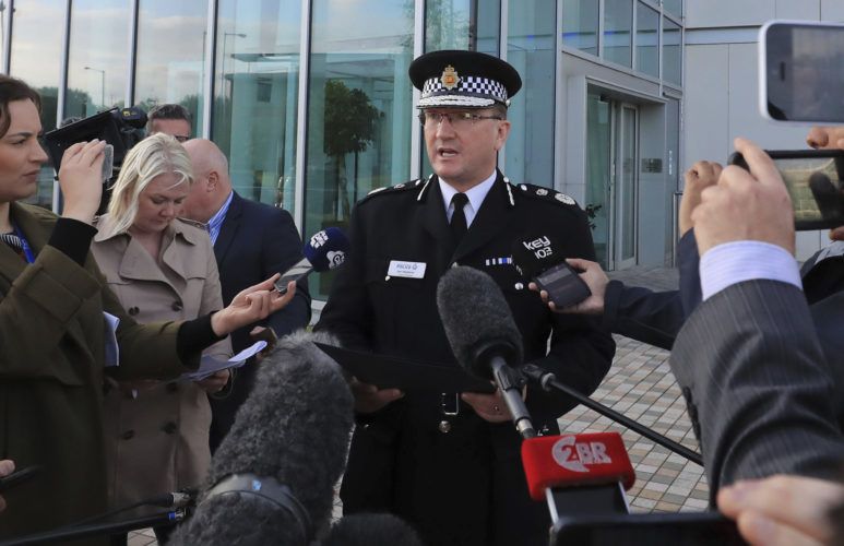 Greater Manchester Police Chief Constable Ian Hopkins speaks to the media in Manchester on Tuesday. An explosion at an Ariana Grande concert was the deadliest attack in Britain since four suicide bombers killed 52 London commuters on subway trains and a bus in July 2005.  AP Photo