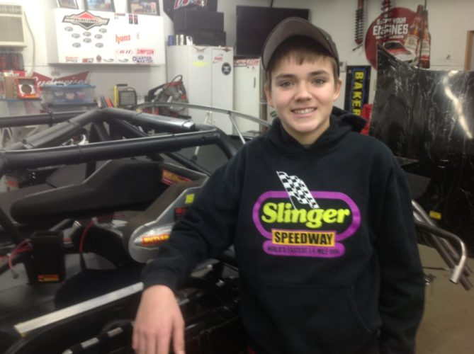The Coca-Cola Late Model Rookie of the Year last season at Norway Speedway was 15-year-old Cameron Clifford of Norway.