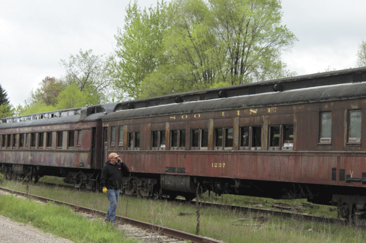 Train enthusiasts waited for hours earlier this week to get a glimpse of an Escanaba and Lake Superior Railroad excursion passenger train that passed through the area. The train stopped in Pembine, Wis., to change tracks and then pulled up near the Breitung Township Fire Department to replenish the water supply before traveling though Channing on its way to Mass City.