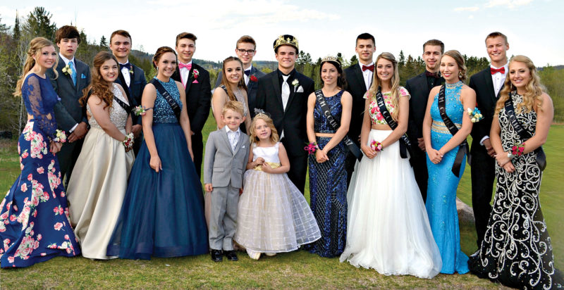 "Norway High School celebrated its junior 2017 prom May 13 at Oak Crest Golf Course in Norway, with a theme of the ""Roaring '20s."" Members of the prom court are in the front row from left, are junior prom prince, Dylan Erickson and princess, Jada Stoke; middle row, Payton Castelaz, Paeyton Bengtson, Cassidy Juntunen, Hailey Erickson, king Joshua Plante, queen Karli Stanchina, Jenna Johnson, Tina Lofholm, and Kayte Casanova; back row, Adam Faull, Dante Pedrotti, Micah Wilson, Nick Morgan, Bryan Stanchina, Dustin Short, and Joshua Boulden."