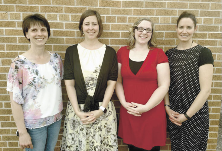 Pictured from left are Bishop Baraga Catholic School teachers Deb Sage, Karen Hackstock, Brenda Wilkey and Elizabeth Benz.
