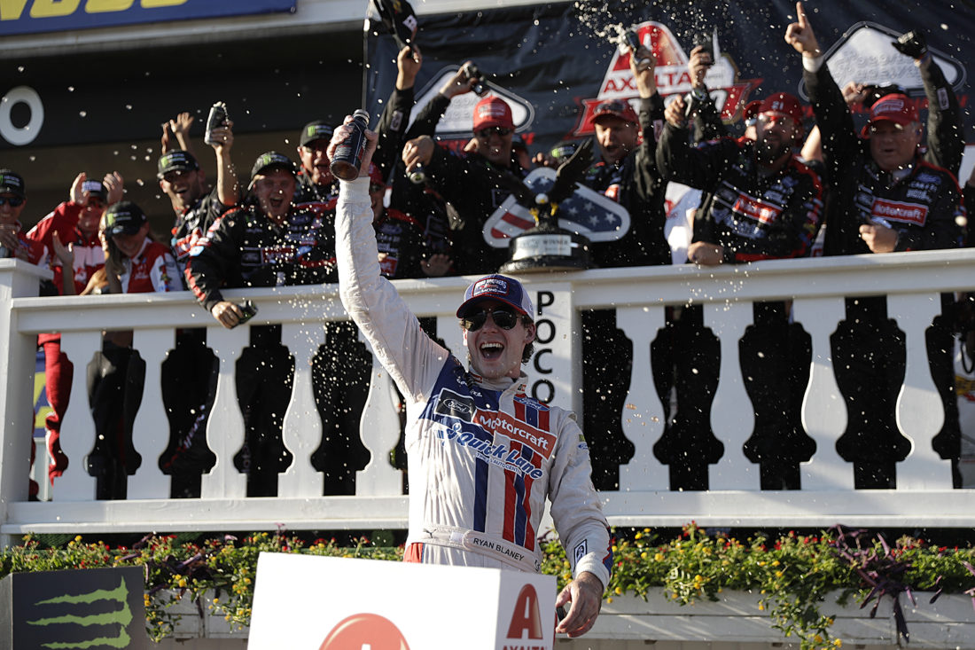 Breakthrough win for Ryan Blaney a vintage NASCAR victory