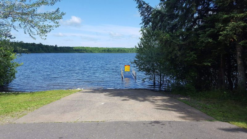 The boating access site at Indian Lake in Iron County, shown here, will be temporarily closed for installation of a new concrete boat ramp starting Monday.