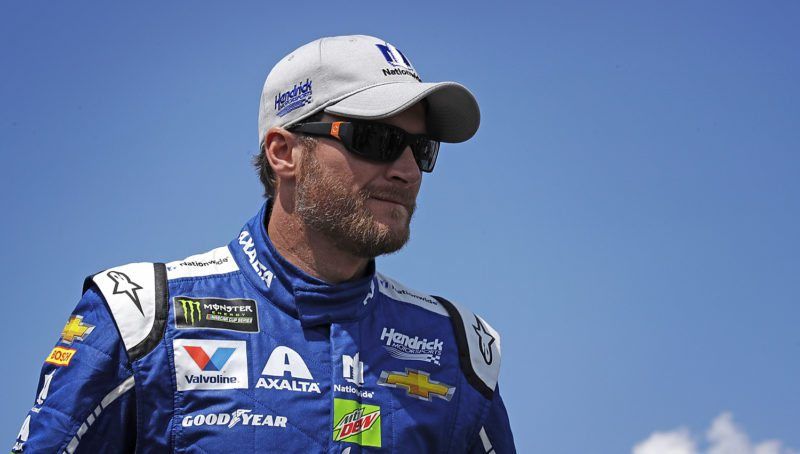 Dale Earnhardt Jr. will start a career in broadcasting races, joining NBC next season. (AP Photo/Charles Krupa)