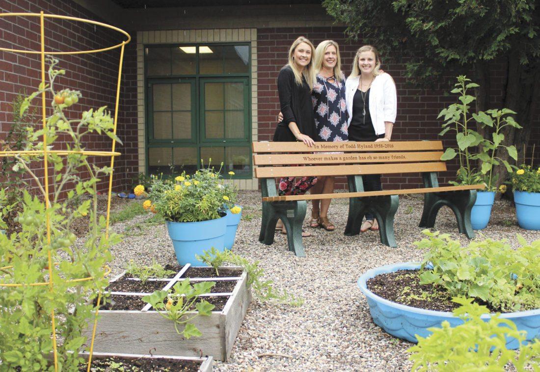 garden bench dedicated to former custodian news sports jobs