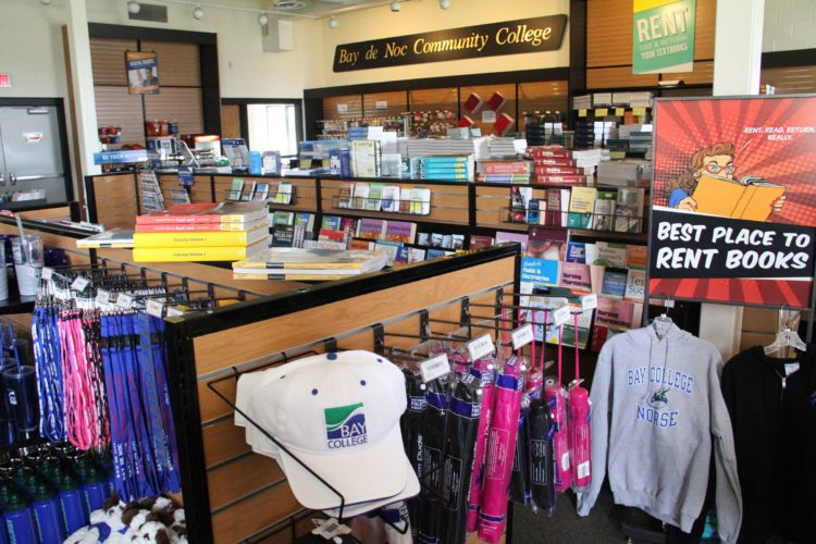 Bay College Bookstore prepares for the start of the fall semester.