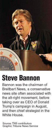 Bio box on Stephen Bannon. Tribune News Service 2017