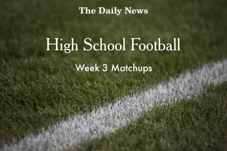 Week 3 Football Matchups
