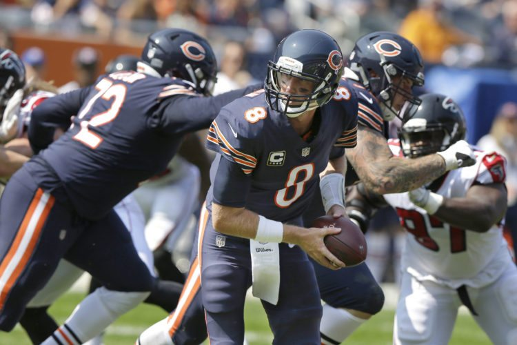 Chicago Bears quarterback Mike Glennon returns to Tampa Bay to play against his former Buccaneers this week. (AP Photo/Michael Conroy)