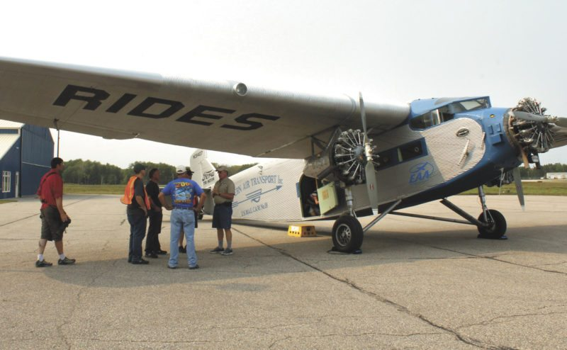 "Thanks to volunteer pilot Dave Ross and the EAA, The Daily News's Theresa Proudfit was able to take a media flight in a 1929 Ford Tri-Motor NC8407 — or ""Tin Goose"" — on Thursday afternoon. The plane was designed for commercial airline travel after World War I."