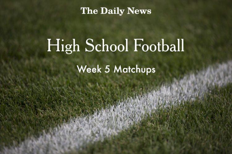 Week 5 Football Matchups