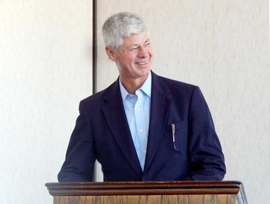"""Garrett Neese/Daily Mining Gazette Former Democratic U.S. Rep. Bart Stupak talks about his new book """"For All Americans: The Dramatic Story Behind the Stupak Amendment and the Historic Passage of Obamacare"""" to a gathering in Houghton."""