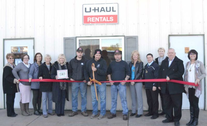 CITY SALES IN Iron Mountain hosted a ribbon-cutting ceremony recently attended by staff and ambassadors with the Dickinson Area Chamber Aliance. From left are Lynda Zanon, chamber director; ambassadors Elsa Samborski, Karen Hicks, Greta Michaud and Patti Schneider, Dylan Drewa, assistant manager; Paul Millan, manager; Peter LaValley, fire extinguisher specialist; and ambassadors Sandi Petroff, Ben Ryan, Suzanne Anderson, Joe Testolin and Teresa Schettler. Chris Tomassucci/Daily News photo