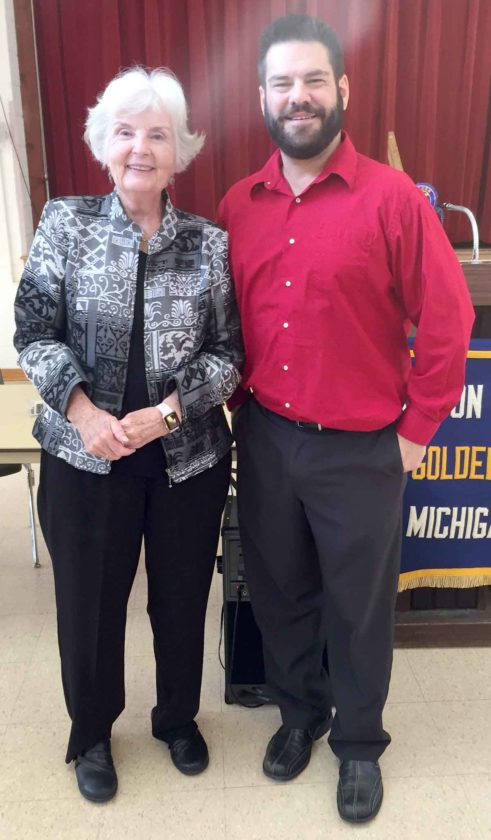 Golden K member Mary Jane Nelson is pictured with Craig Recla.