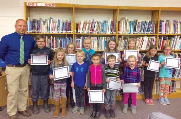 Norway-Vulcan SchoolDistrict has announced its PTO Citizenship Award recipients. Students in the front row from left, are first graders, LandriRossler and Jack DeDecker; kindergartens, Rayonne Ehmer and Noah Miller; early kindergarteners, Morgan Kelly; back row, Cole Davy gym class EK-8 winner; fourth graders, Aurora Buel and Paytan Carlson; third graders, Tessa Castelaz and Jordyn Moln; second graders, Lilly Tomlanovich and Emily Temrowski.