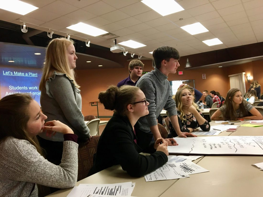Members of the Norway Youth Advisory Committee are, from left, back, Ada Van Holla, Carson Lagina, Josh Gendron, Alex Heigl, Kody Hendricks, Anna Karkanen, Jessica Lacount, Kassie Kay, Trevor Dapoz, Kylie Adams, Taylor Wheeler and Libby Lofholm; in front are Mary Slagle, Emily St. Vincent, Camie Clark, Paige Chartier and Brett Houle.