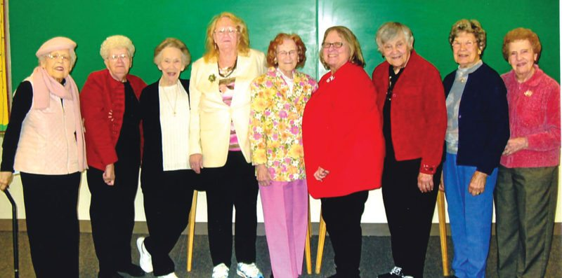 Daughters of Isabella Circle 367 recently installed new officers for the upcoming year. Officers, from left, are Louise Plante, chancellor; Marlene Johnson, auditor; Lu Villa, auditor; Dorothy Schinderle, guide; Marcene Fuse, vice regent and past regent; Mary Zagorski-Graver, state past regent; Barbara Bedard, regent; Dorothy Burkart, treasurer; and Betty Simon, financial secretary and scribe.