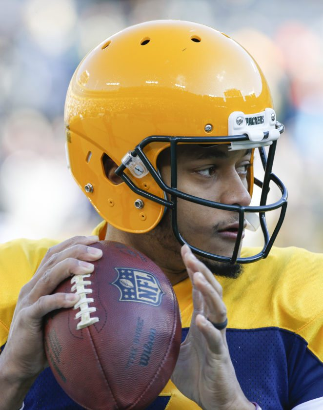 The Green Bay Packers are 1-3 with quarterback Brett Hundley replacing injured Aaron Rodgers. (AP Photo)