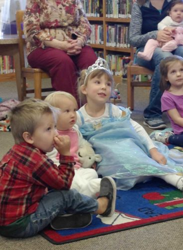 Preschoolers enjoy storytime at the Dickinson County Library in IronMountain. Music and Rhyme Wiggle Time takes place at 10:30 a.m. Wednesday at the library.
