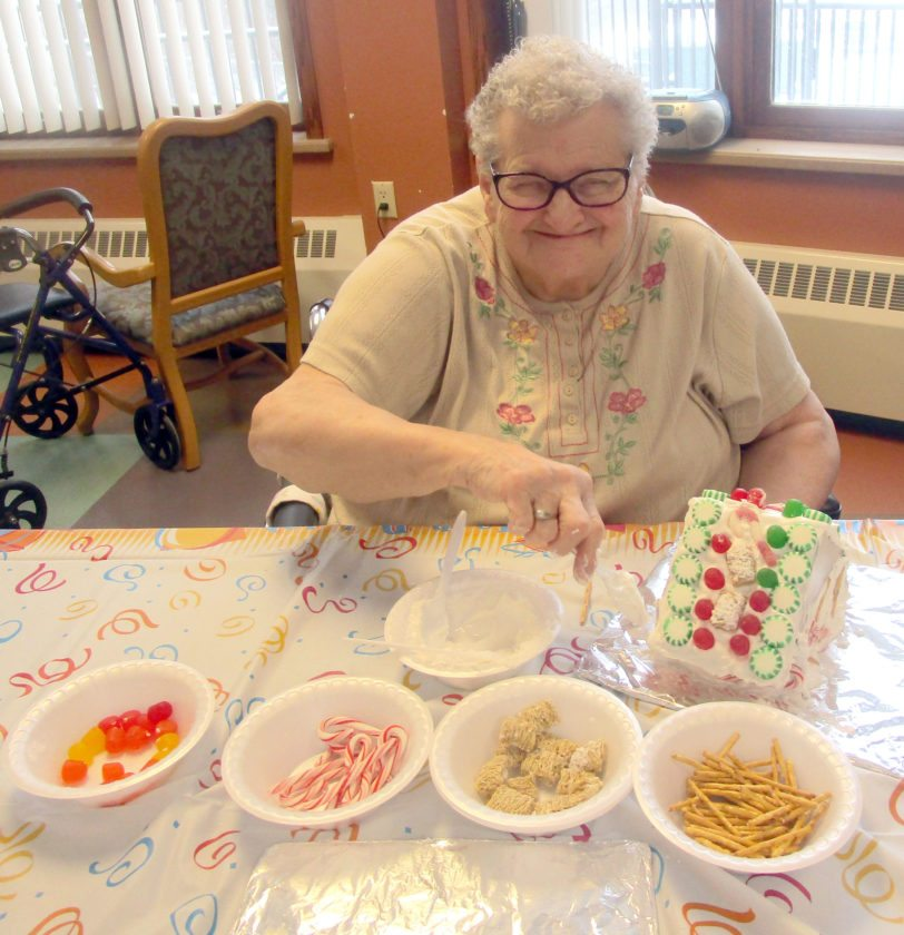 Kay Alko used a variety of spearmint candies and gum drops.