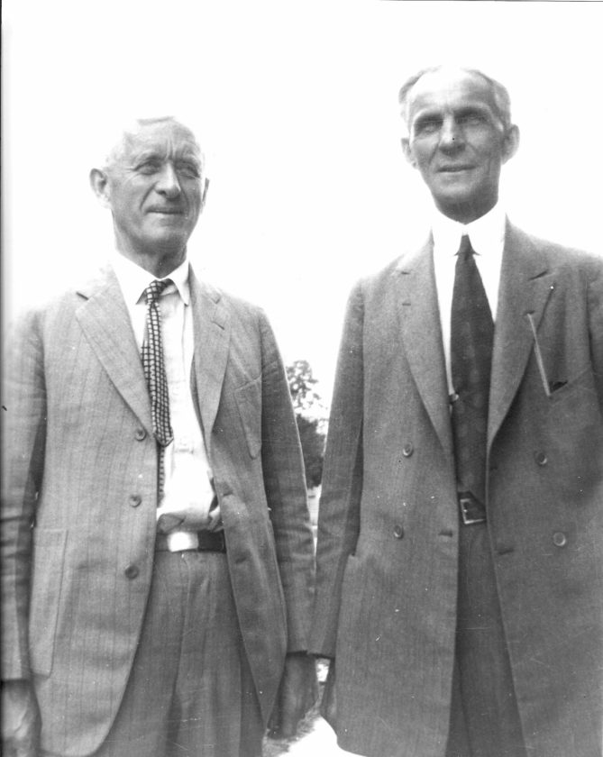 Edward George Kingsford, left, and Henry Ford were cousins by marriage.