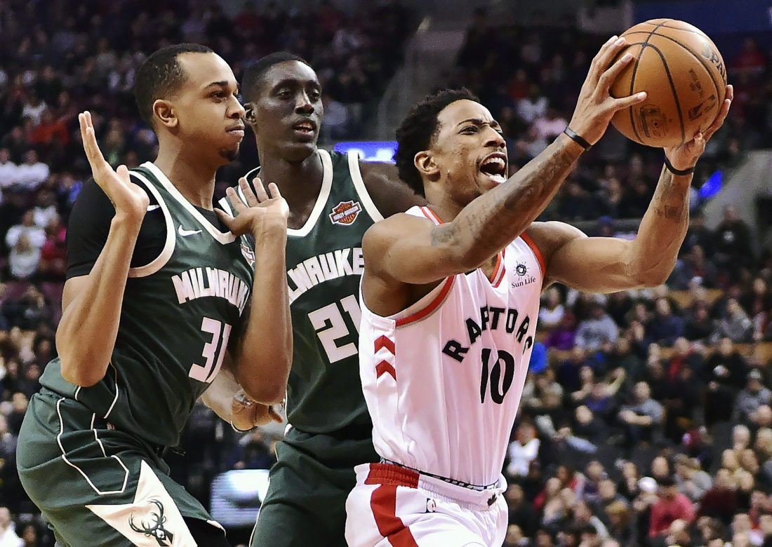 Raptors notebook: DeRozan's career night leads Toronto to win over Bucks