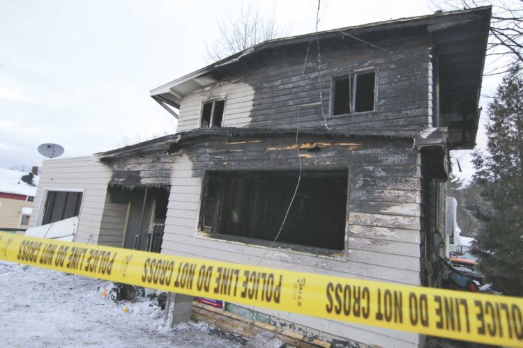 A NORWAY WOMAN was among two people killed in a house fire in Marquette on Monday night. (Rachel Oakley/Marquette Mining Journal photo)